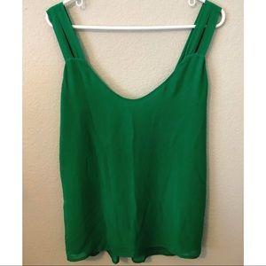 Naked Zebra-Emerald Green Tank Top